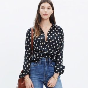 Madewell Oversized Shirt in Ikat Dot